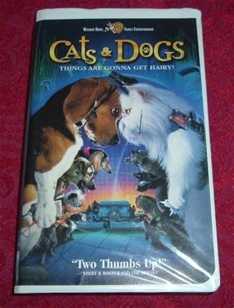 vhs cats  dogs rated pg starring jeff goldblum
