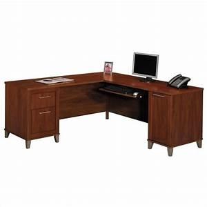 Bush Furniture Somerset L Shape Wood Home Office Desk