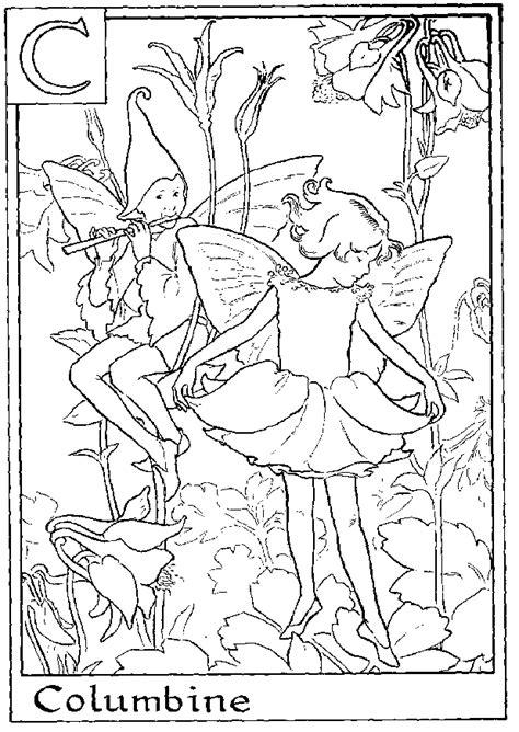 fairy alphabet coloring pages   print