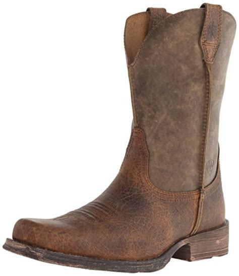 Western Boat by Ariat S Rambler Wide Square Toe Western Boot Earth