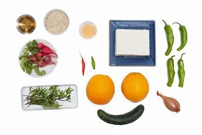 Tofu Glazed Orange Vegetable Salad Barley Title