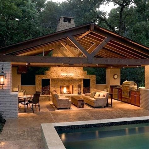 kitchen designs outdoor  patio fireplace