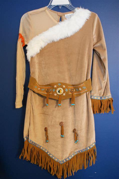 disney parks pocahontas costume dress girls xs  ebay