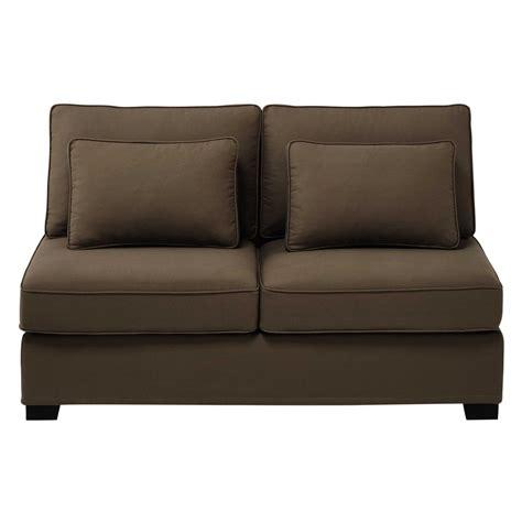 canapé chauffeuse chauffeuse de canapé modulable en coton taupe l 151 cm