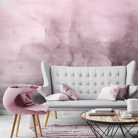 pink quartz ombre watercolor wallpaper moonwallstickerscom