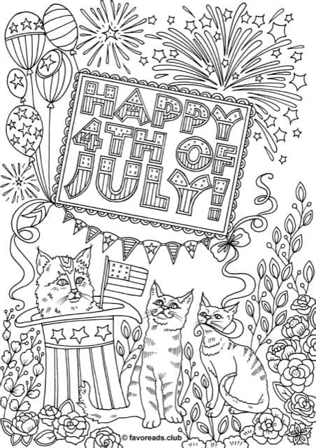 printable fourth  july coloring pages printable