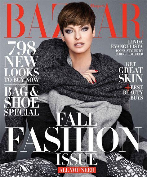 Cover Of Harper's Bazaar Usa With Eva Herzigova, September