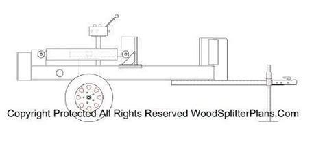 horizontal wood splitter plans