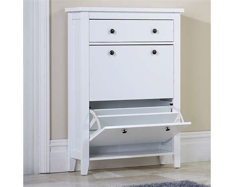 Shoe Cabinet by Jade Shoe Cabinet In White Discount Furnishings Outlet