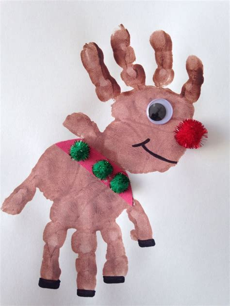 cutest christmas handprint crafts  kids
