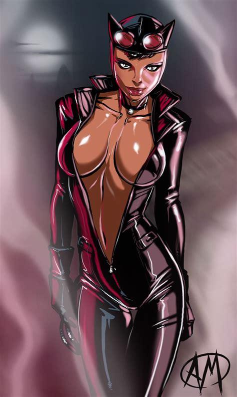 Batman Arkham City Catwoman Geek Nerd Cartoon Anime