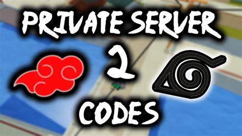 PRIVATE SERVER CODES FOR SHINOBI LIFE 2 ROBLOX | PART 2 ...