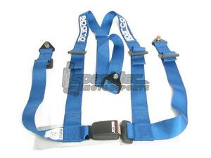 sparco racing seat belt safety harness tuner blue 2 inch 3 point bolt in 810001071240 ebay