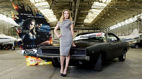 Amber Heard Drive Angry Car, Download 1969 Dodge Charger