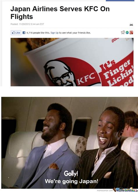 Funny United Airlines Memes - japan airlines serve kfc by paxton 176 meme center