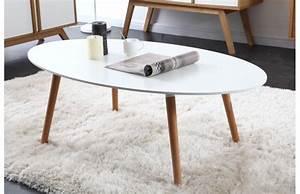 Table Basse Scandinave Blanche : table basse style scandinave pas cher ~ Teatrodelosmanantiales.com Idées de Décoration
