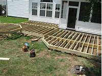 ground level deck plans Deck: How To Build Ground Level Deck Plans For Outdoor ...