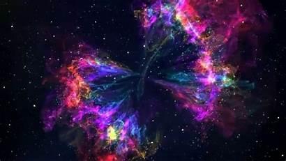 Rainbow 4k Nebula Background Motion Copyright
