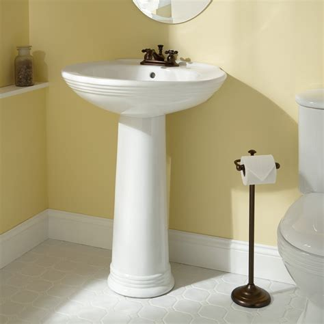 Pedestal Sink For Small Bathroom by Savoye Porcelain Pedestal Sink Bathroom