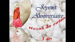 1 An Anniversaire : anniversaire mariage 50 cartes virtuelles youtube ~ Farleysfitness.com Idées de Décoration