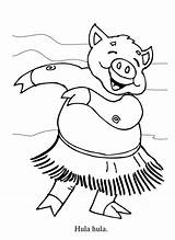 Hula Coloring Hawaiian Dance Dancer Hoop Piggy Cartoon Hippo Cliparts Colouring Clipart Deadly Sins Diane Printable Getcolorings Netart Clip Library sketch template