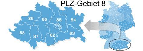 Postleitzahlen 86... In Deutschland