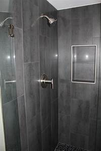 niche w out bullnose gray 12 x 24 shower tile with danze With 12x24 tiles in bathroom