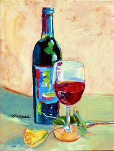 Nancy Standlee Fine Art: Design on Wine ~ Acrylic Wine ...