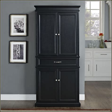 black tall standing l kitchen terrific stand alone kitchen pantry designs for