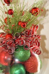 unique christmas centerpiece red and green holiday decor