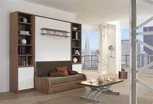 Lit Au Plafond Electrique : banquette lit escamotable lit suspendu plafond electrique ~ Premium-room.com Idées de Décoration