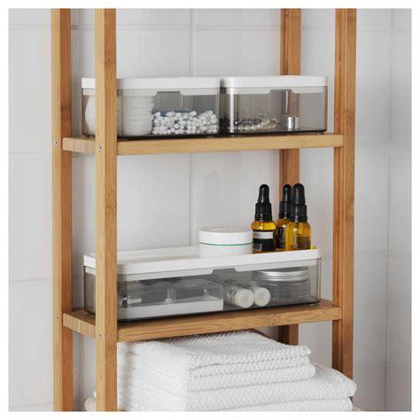 Badezimmer Set Ikea by Brogrund Box Set Of 3 Transparent Gray White In 2019