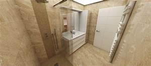 art et interieurs With porte de douche coulissante avec beton cire mercadier dans salle de bain renovation carrelage