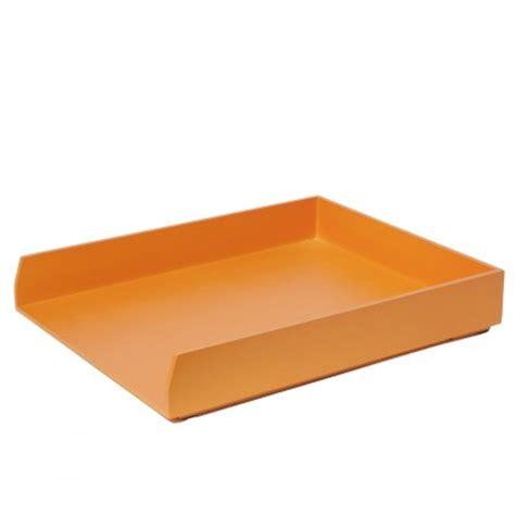 bannettes bureau bannette orange pour mettre en ordre bureau kollori com