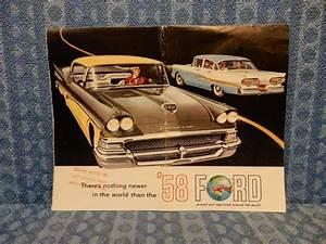 1958 Ford Car Original Sales Brochure    Folder Skyliner