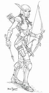 Archer Deviantart Staino Coloring Armor Warrior Sketch Dessin Characters Colouring Fantasy Fc06 Printable Coloriage Chest Enregistree Depuis Character sketch template