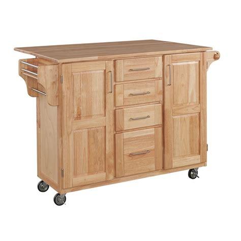 chariot de cuisine en bois home styles chariot de cuisine en bois à abattant latéral