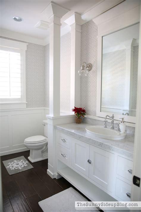 christmas   powder bathroom  sunny side  blog