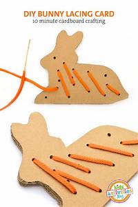 cardboard bunny sewing card template free printable With lacing card templates