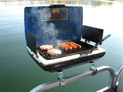 Boat Accessories On Ebay by Pontoon Boat Rail Mount Bracket Set For Your Bbq Grill Gas
