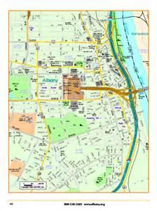 Map Downtown Albany NY