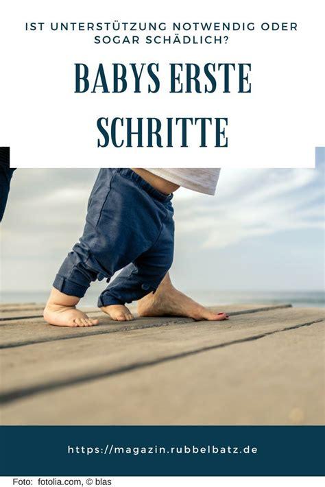 die ersten schritte ab wann lernen babys laufen baby