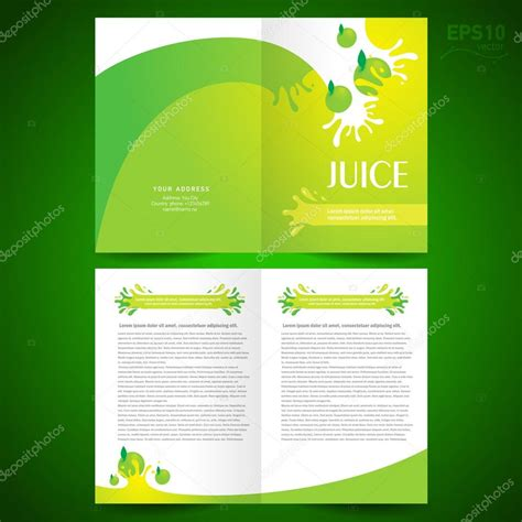 Brochure Design Template Juice Fruit Drops Stock Vector Brochure Design Template Booklet Catalog Fruit Juice