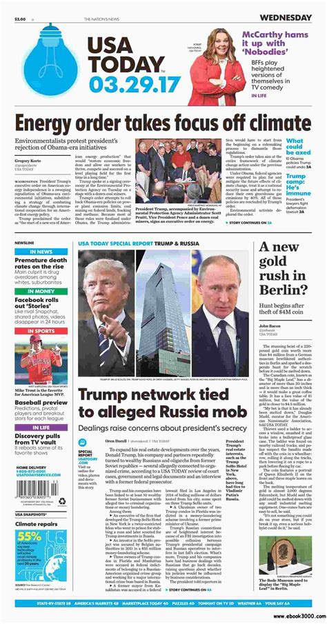 Newspaper Usa Usa Today March 29 2017 Free Ebooks Download