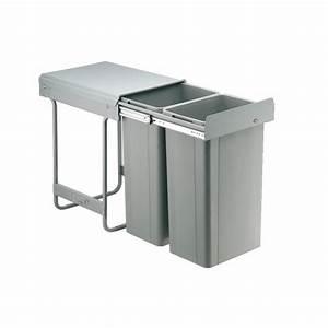 Poubelle Tri Selectif 2 Bacs : poubelles coulissantes pour tri s lectif 2 bacs de 32 ~ Dailycaller-alerts.com Idées de Décoration