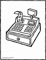 Cash Register Colouring Drawing Kiddicolour Pages Store Kassa Coloring Sketch Kleurprent Colour Gesloten 01v Template Receiver Mail sketch template