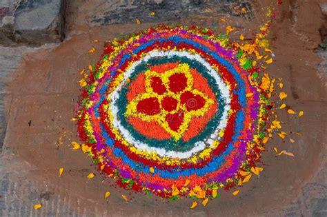 rangoli  diwali festival maharashtra india stock