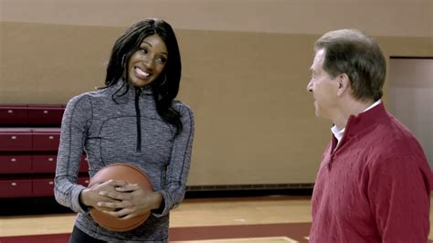 Nick Saban plays basketball with Maria Taylor | Maria ...