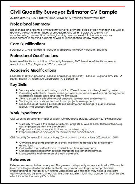 quantity surveyor fee proposal template tutoreorg