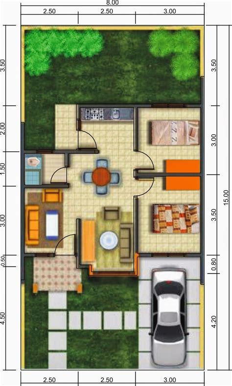 gambar denah rumah minimalis modern  lantai terbaru